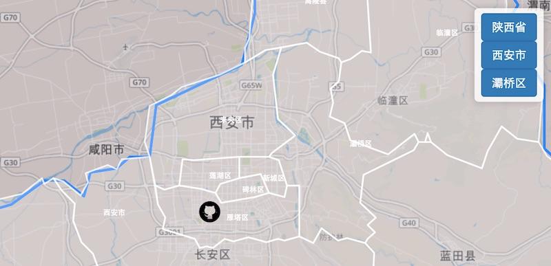 地图到省市区联动